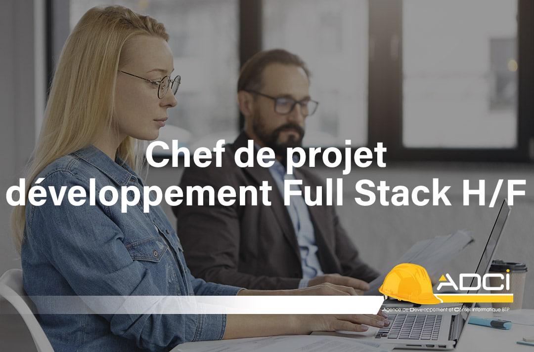 offre d'emploi : chef de projet développement full stack